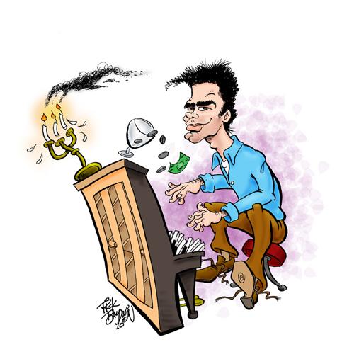 Seth Timbs Caricature by Rick Baldwin