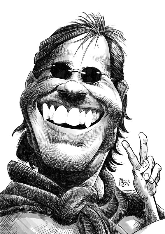 Doug Kenney Caricature by Rick Baldwin