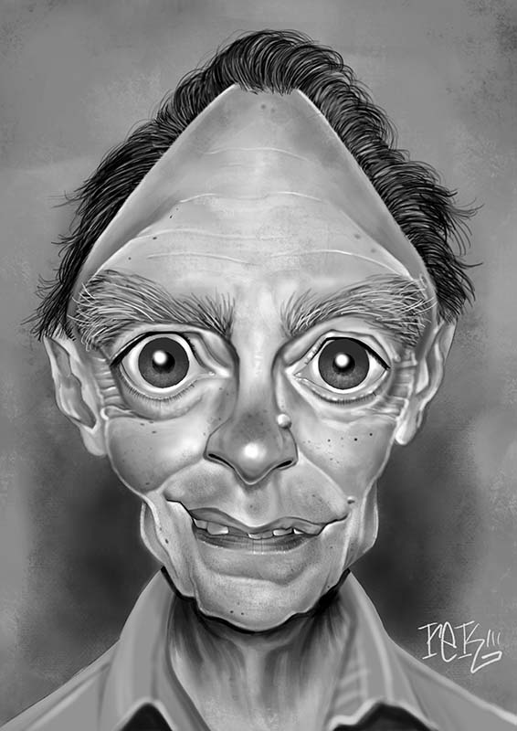 Edgar Oliver Caricature by Rick Baldwin