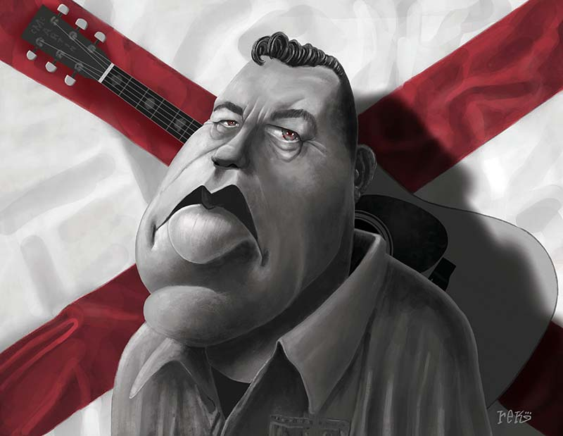 Jason Isbell Caricature by Rick Baldwin