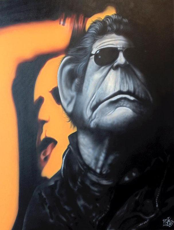 Lou fine art by Rick Baldwin.